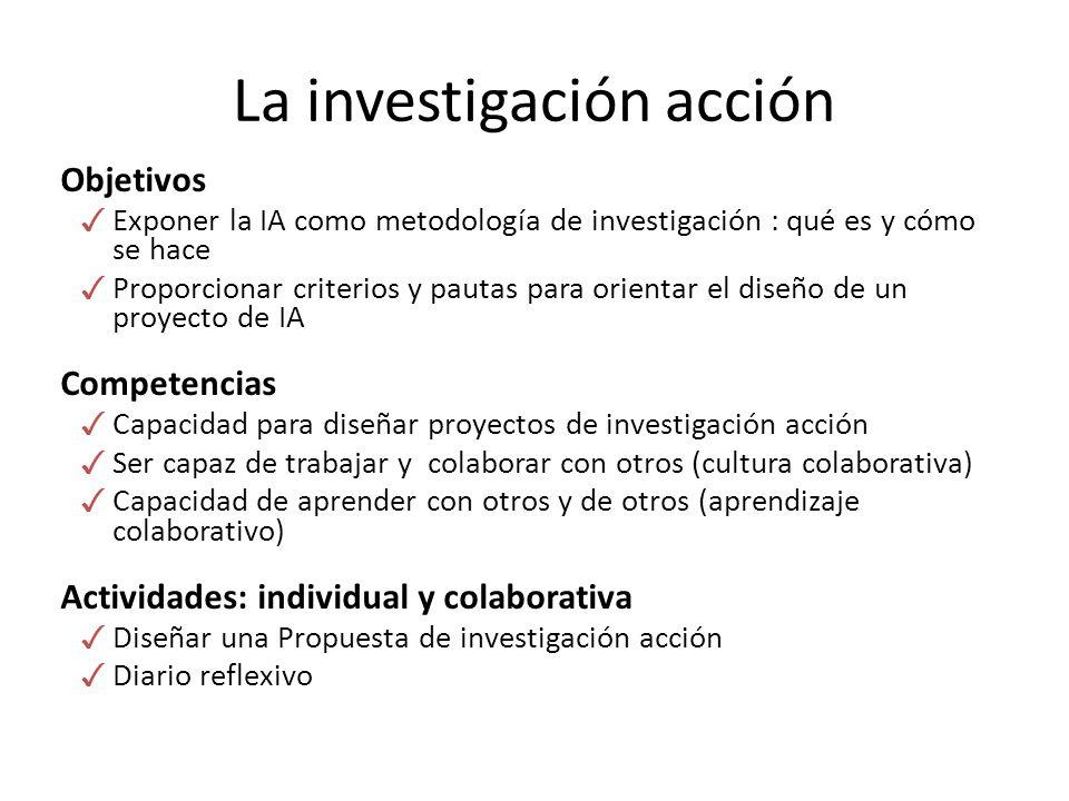 La investigación acción
