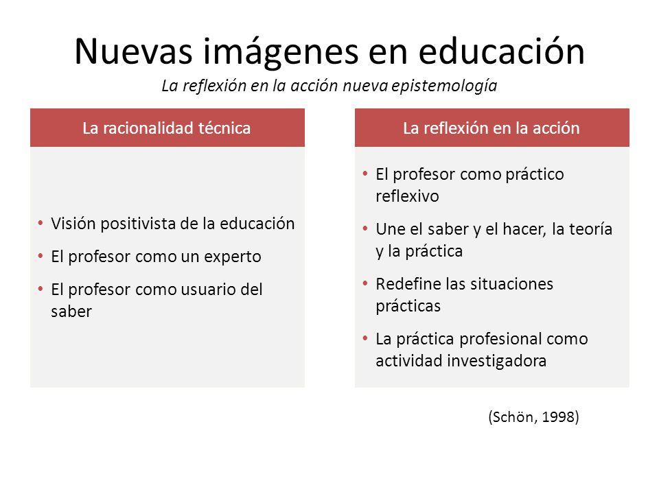 Nuevas imágenes en educación La reflexión en la acción nueva epistemología