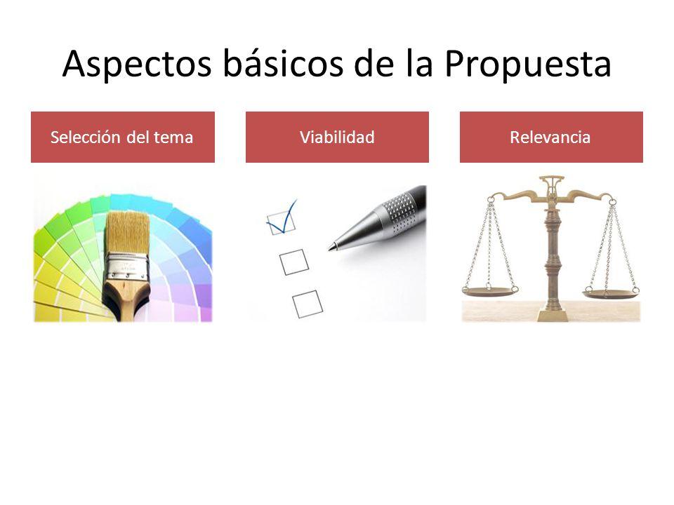Aspectos básicos de la Propuesta