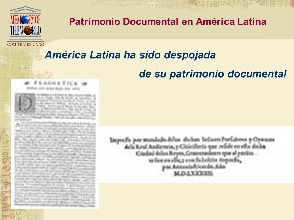 Patrimonio Documental en América Latina