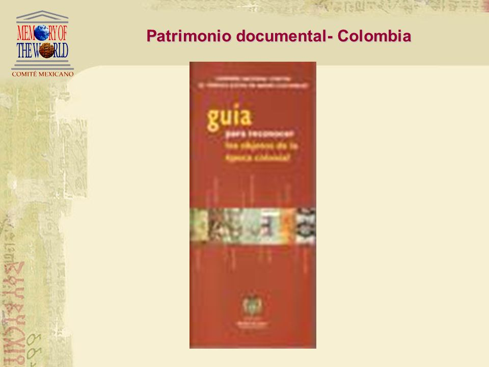 Patrimonio documental- Colombia