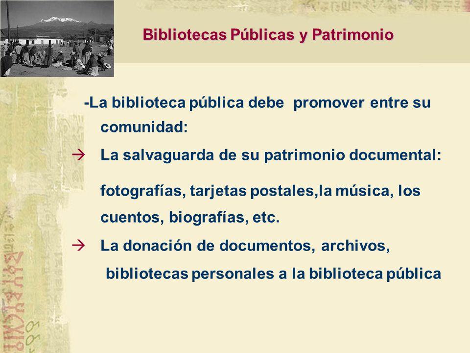 Bibliotecas Públicas y Patrimonio