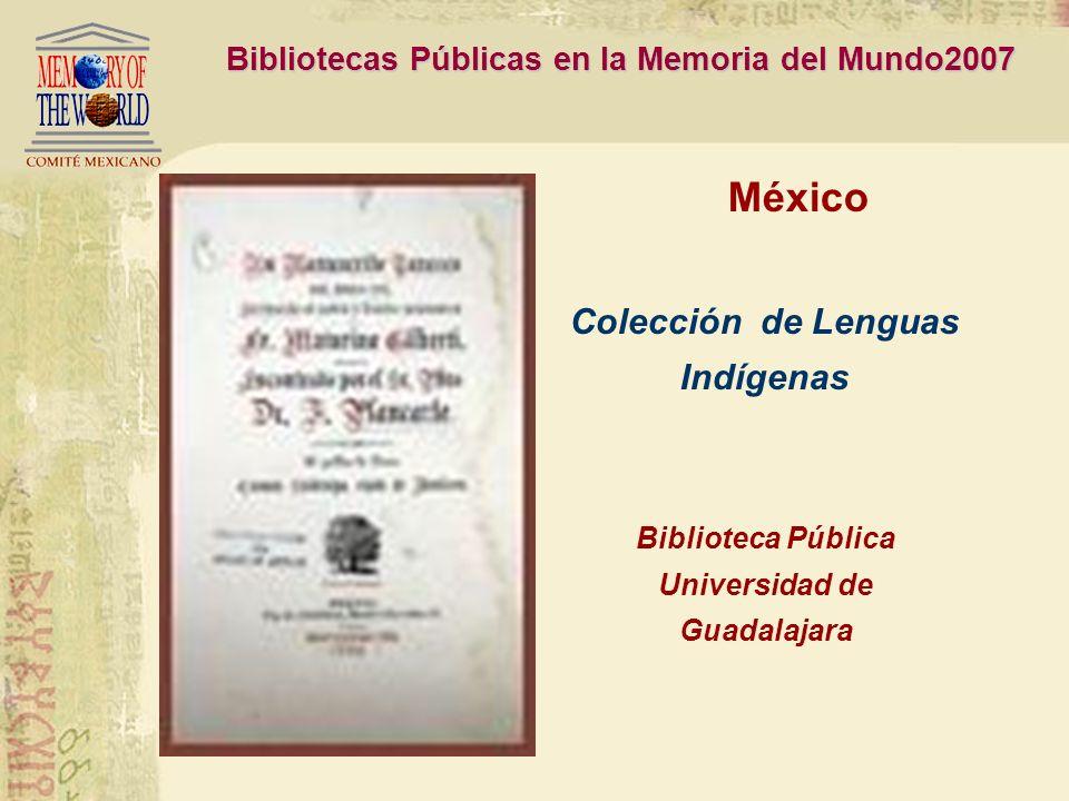 Bibliotecas Públicas en la Memoria del Mundo2007