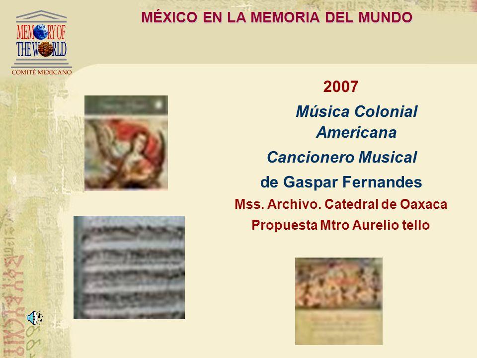 MÉXICO EN LA MEMORIA DEL MUNDO