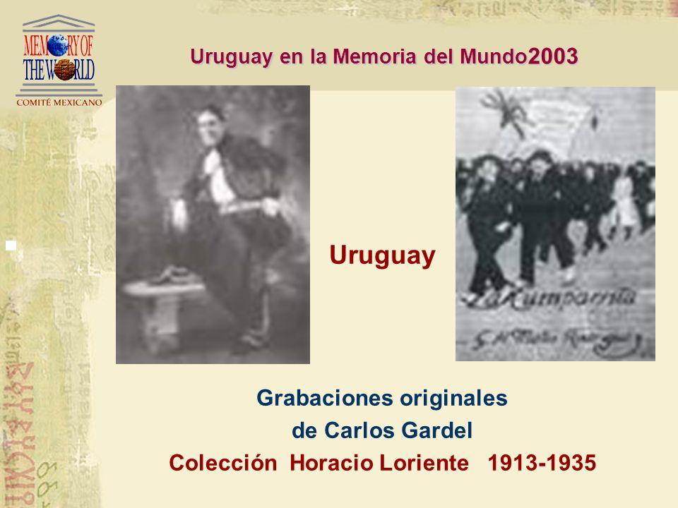 Uruguay Grabaciones originales de Carlos Gardel