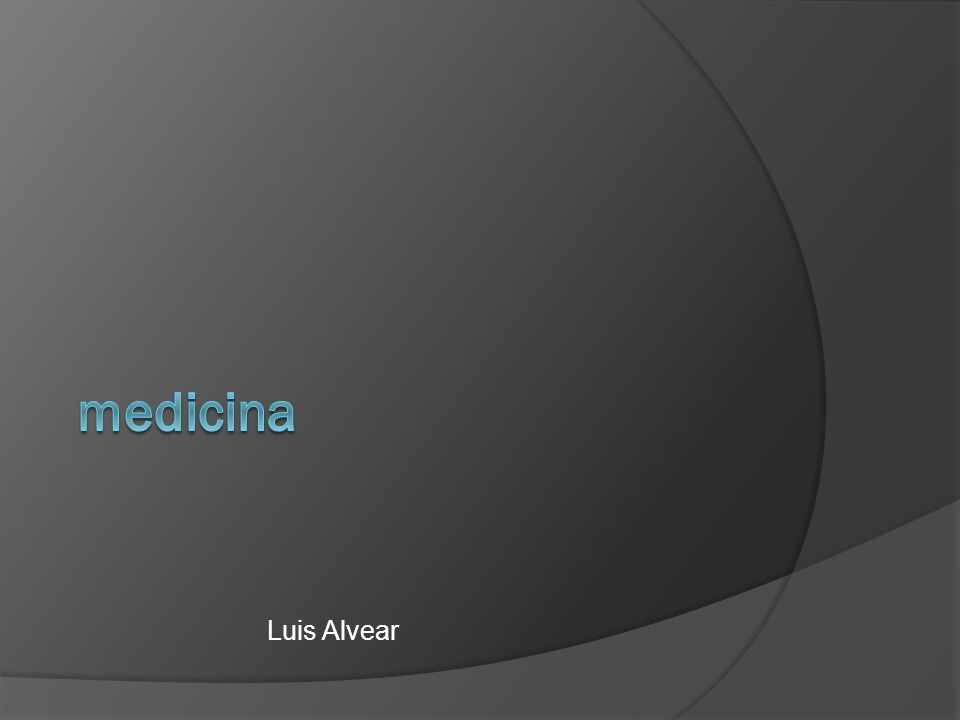 medicina Luis Alvear