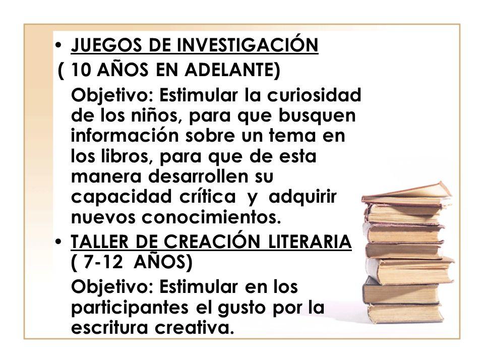 JUEGOS DE INVESTIGACIÓN
