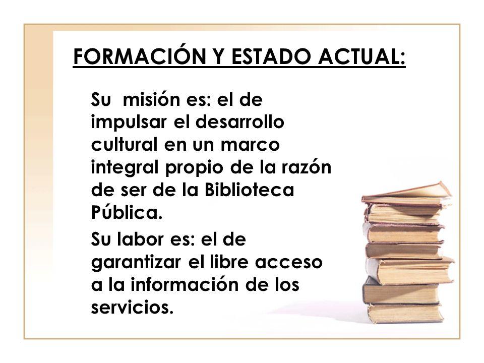 FORMACIÓN Y ESTADO ACTUAL: