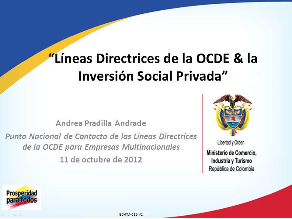 Líneas Directrices de la OCDE & la Inversión Social Privada
