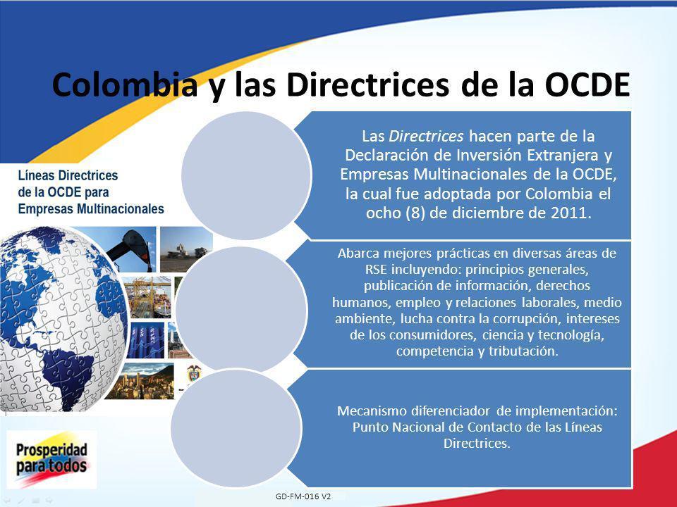 Colombia y las Directrices de la OCDE
