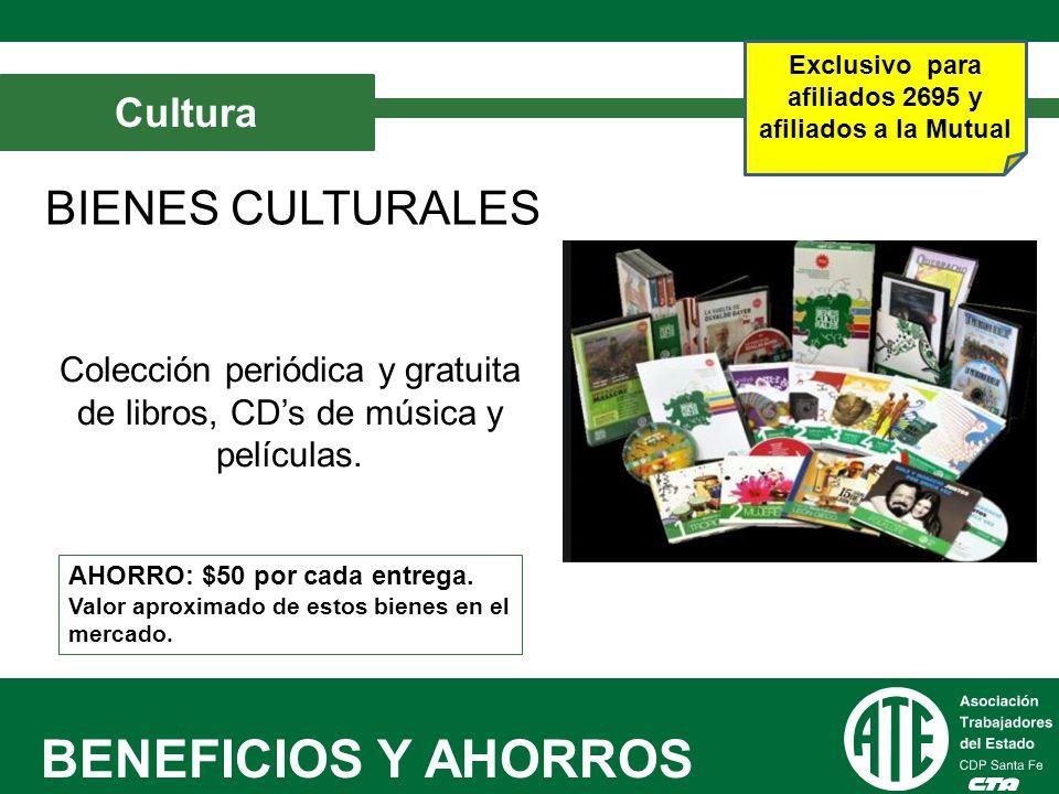 Colección periódica y gratuita de libros, CD's de música y películas.