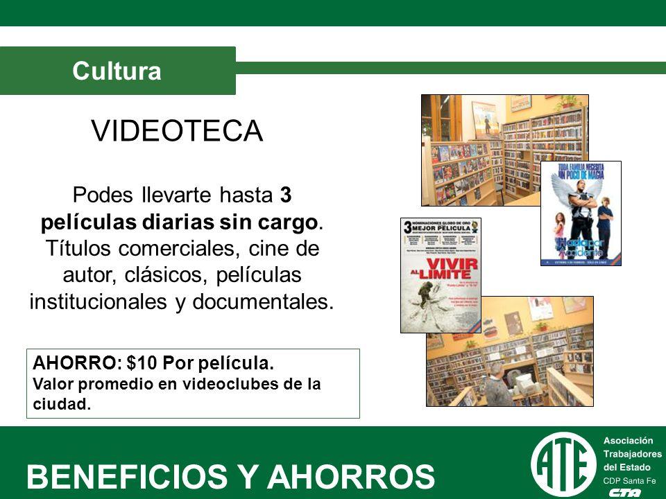 BENEFICIOS Y AHORROS VIDEOTECA Cultura