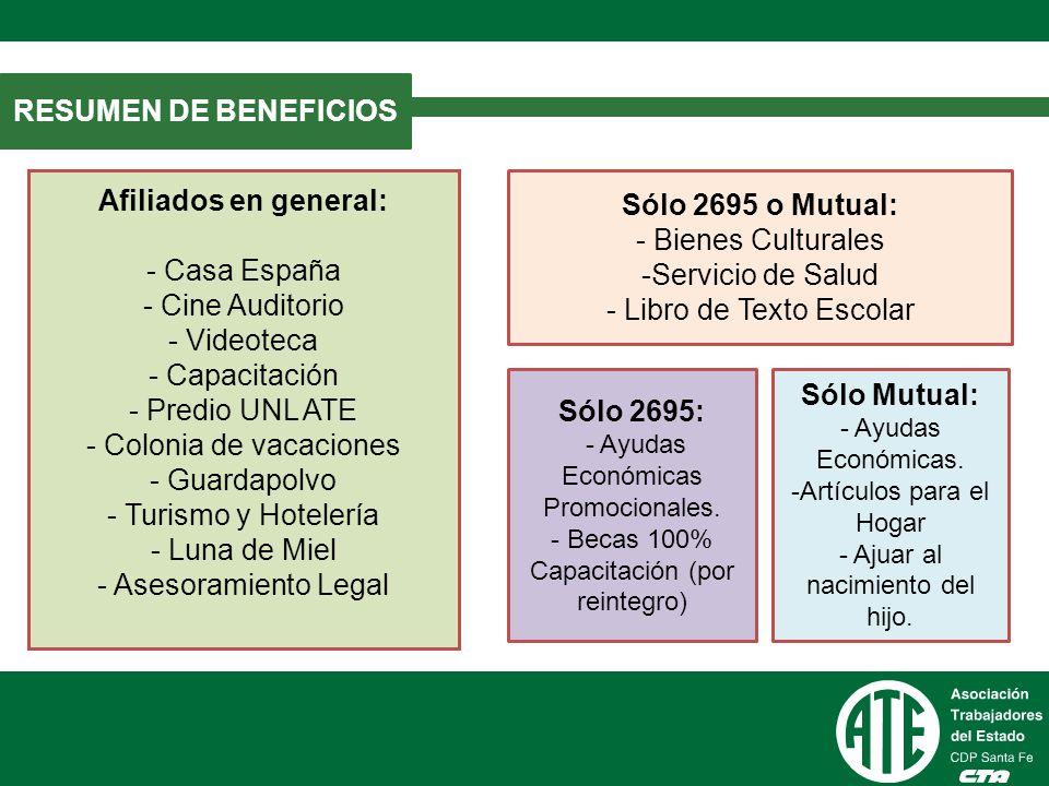 Sólo 2695 o Mutual: - Bienes Culturales Servicio de Salud
