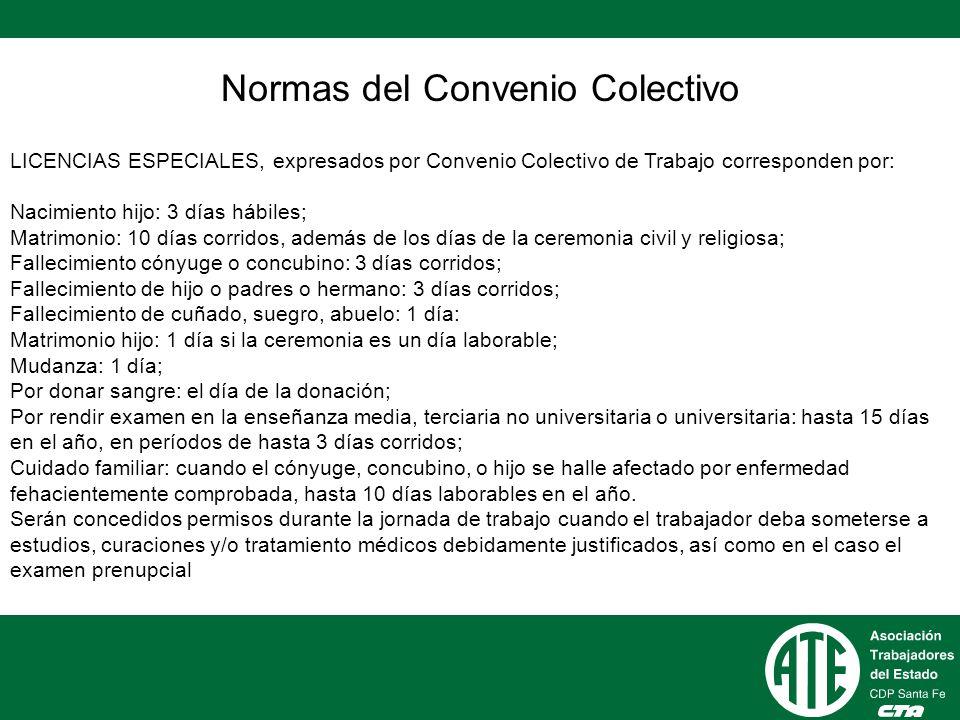Normas del Convenio Colectivo