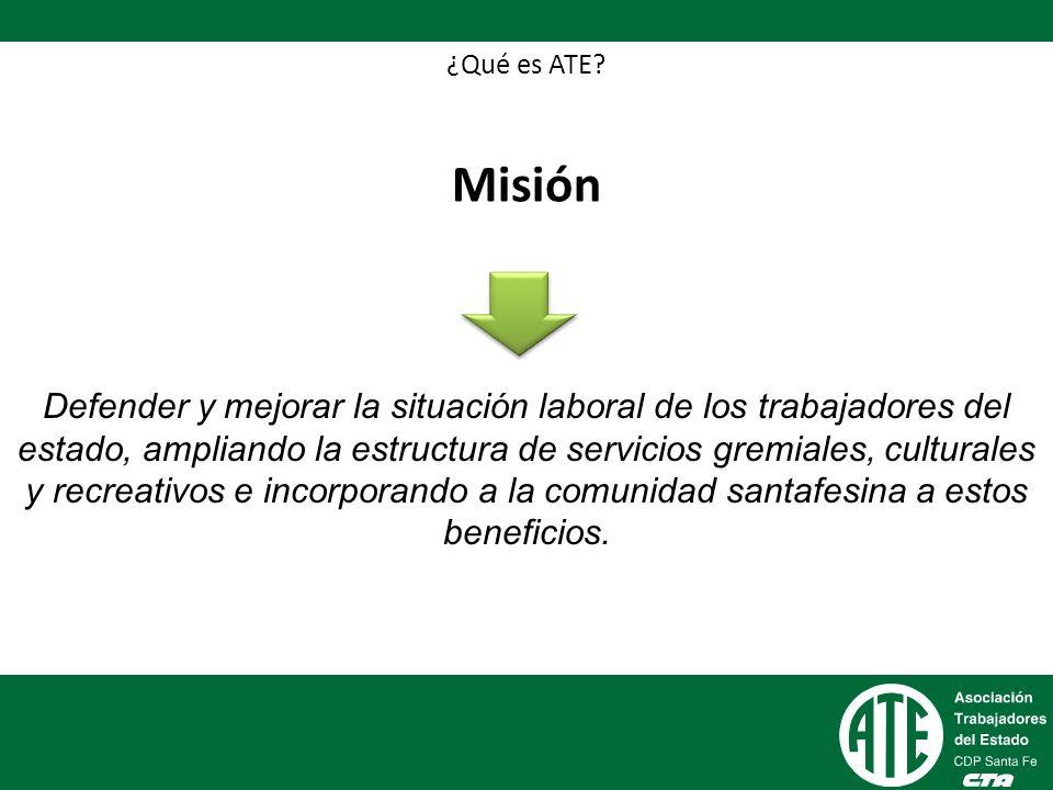 ¿Qué es ATE Misión.