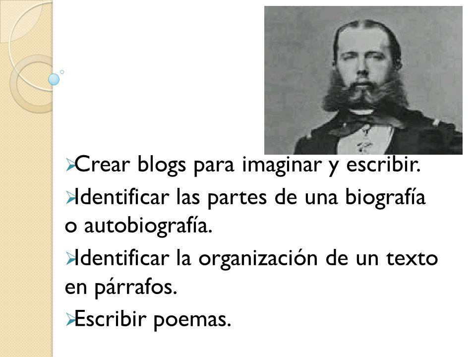 Crear blogs para imaginar y escribir.