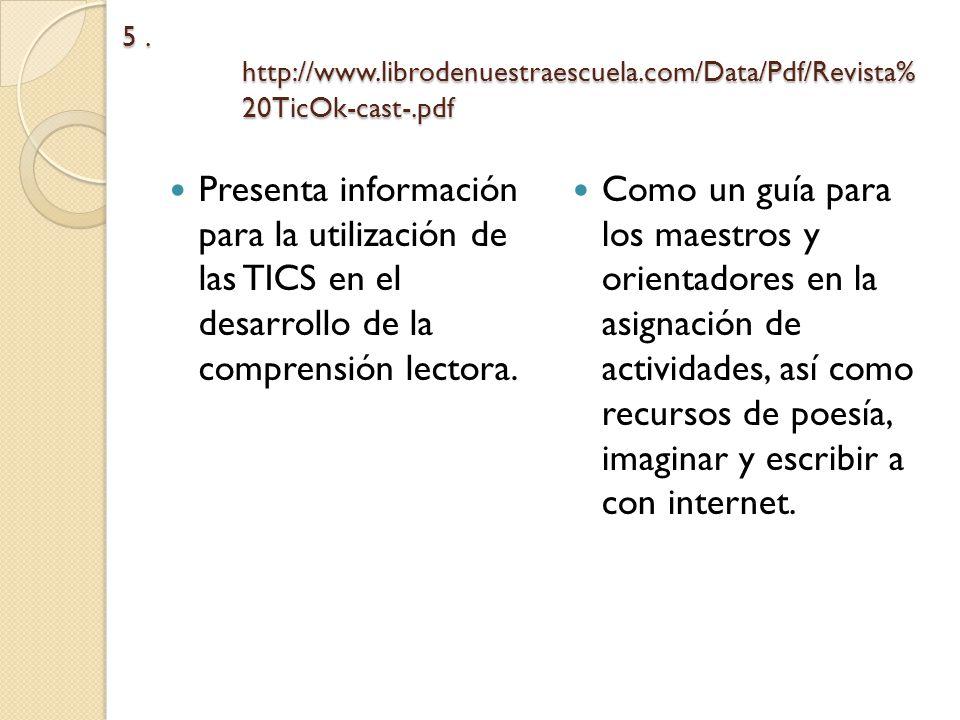 5. http://www. librodenuestraescuela