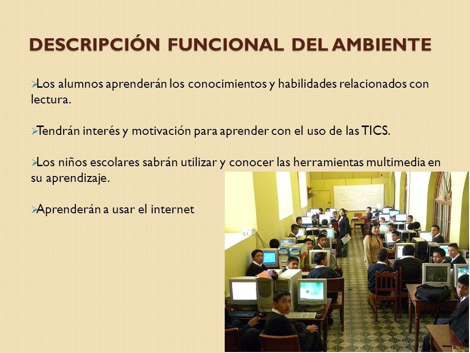 DESCRIPCIÓN FUNCIONAL DEL AMBIENTE