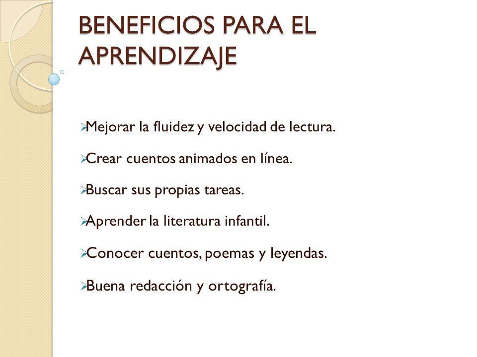 BENEFICIOS PARA EL APRENDIZAJE