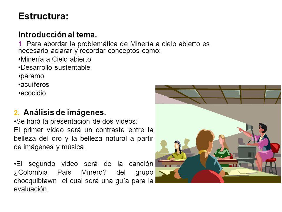 Estructura: Introducción al tema.