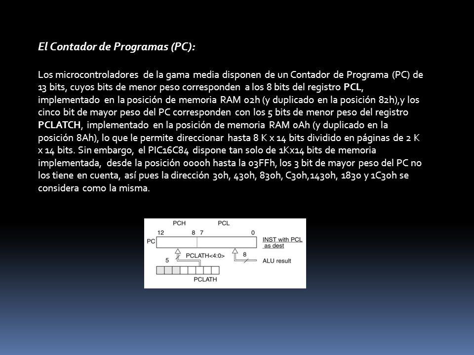 El Contador de Programas (PC):