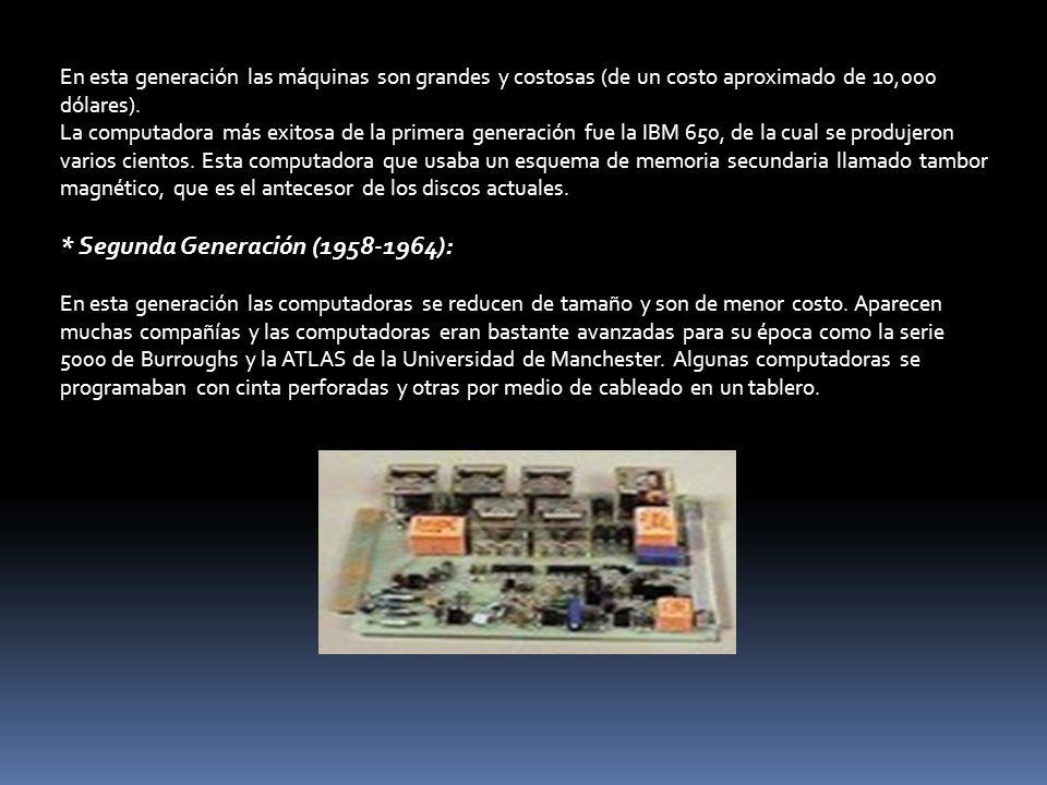 * Segunda Generación (1958-1964):