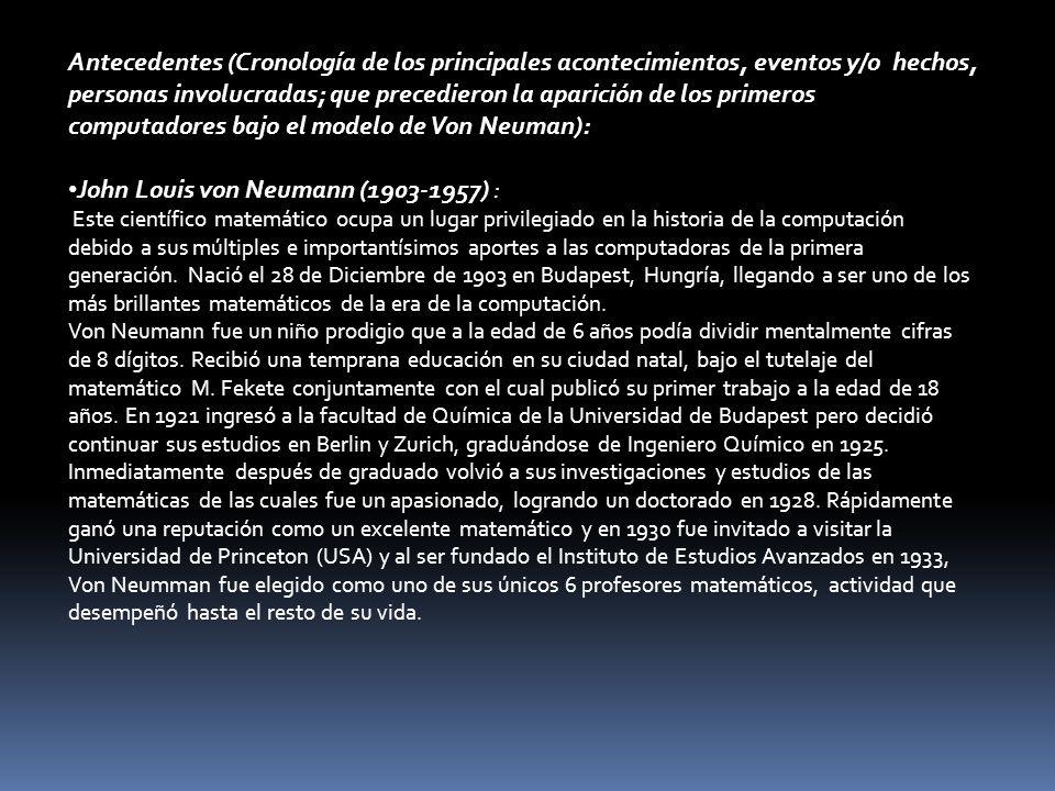 John Louis von Neumann (1903-1957) :