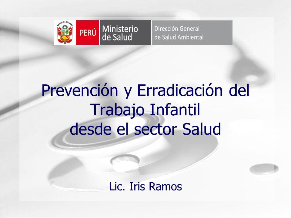Prevención y Erradicación del Trabajo Infantil desde el sector Salud