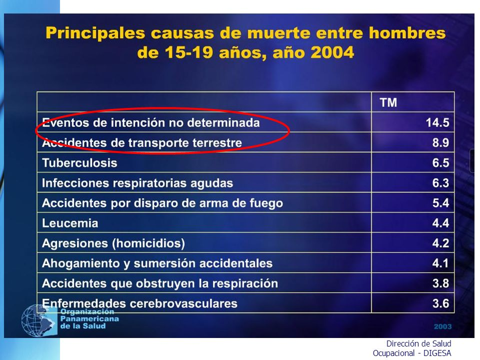 Dirección de Salud Ocupacional - DIGESA