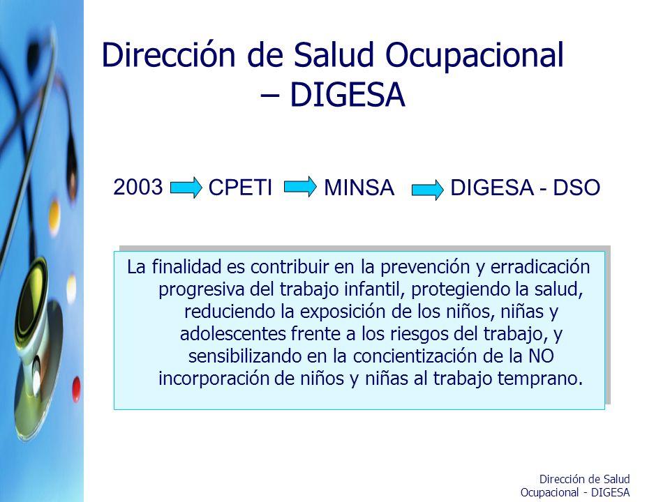 Dirección de Salud Ocupacional – DIGESA