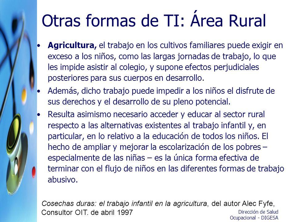 Otras formas de TI: Área Rural