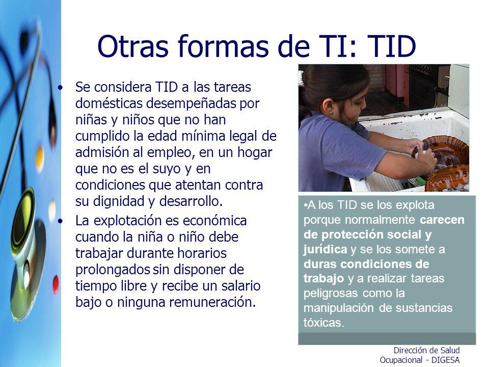 Otras formas de TI: TID