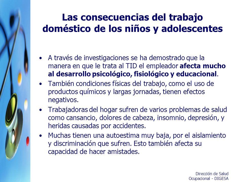 Las consecuencias del trabajo doméstico de los niños y adolescentes
