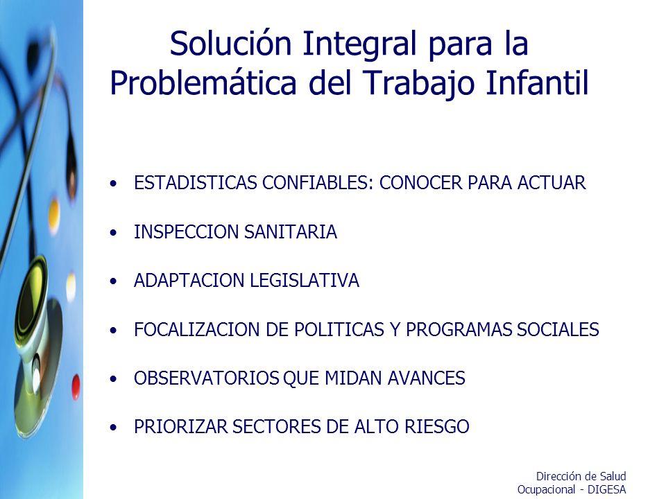 Solución Integral para la Problemática del Trabajo Infantil