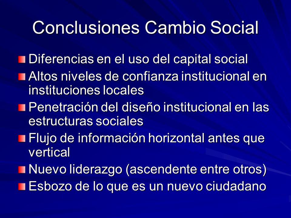Conclusiones Cambio Social