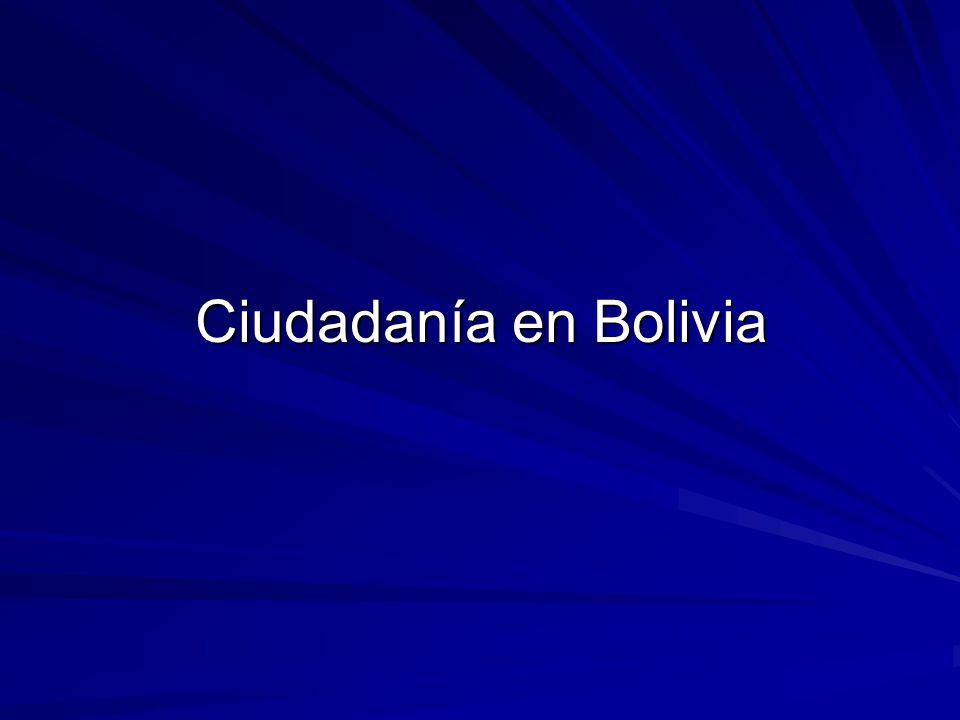 Ciudadanía en Bolivia