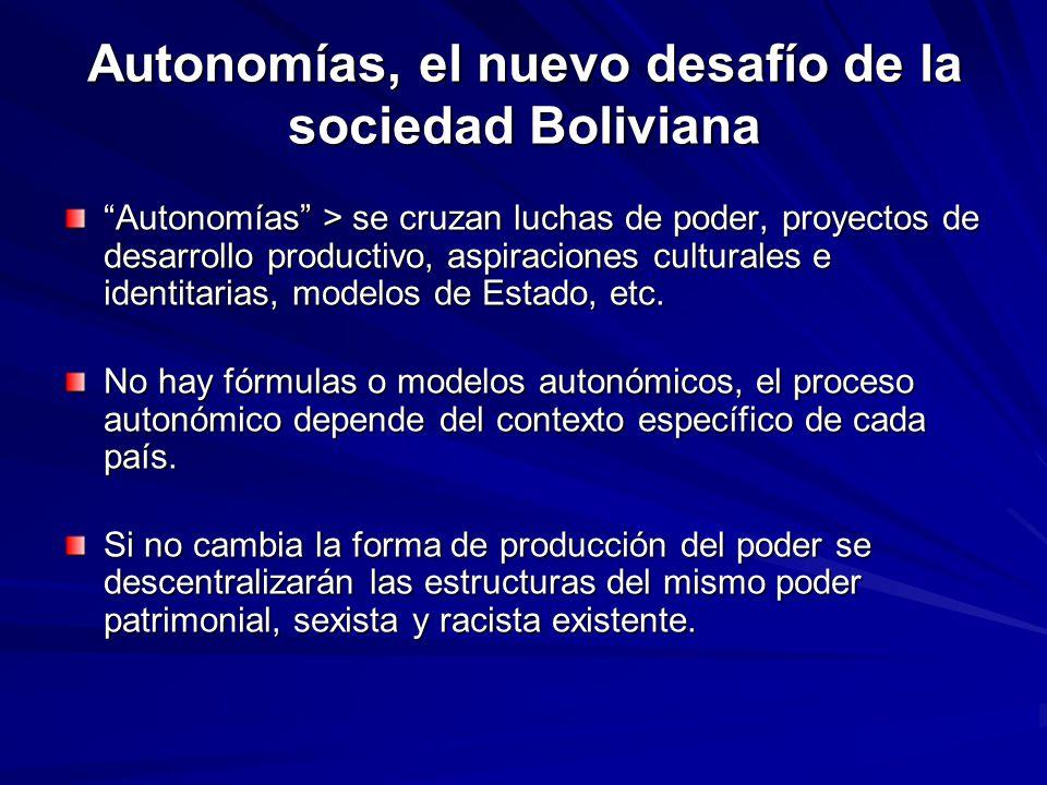 Autonomías, el nuevo desafío de la sociedad Boliviana