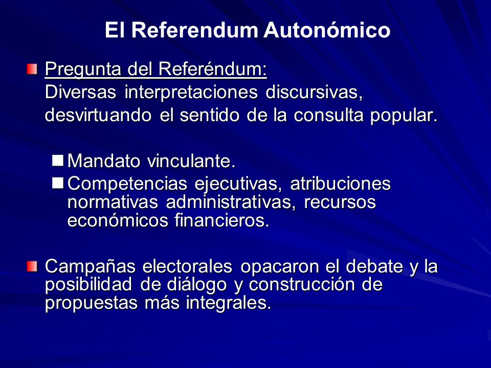 El Referendum Autonómico