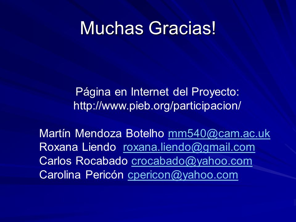 Página en Internet del Proyecto: