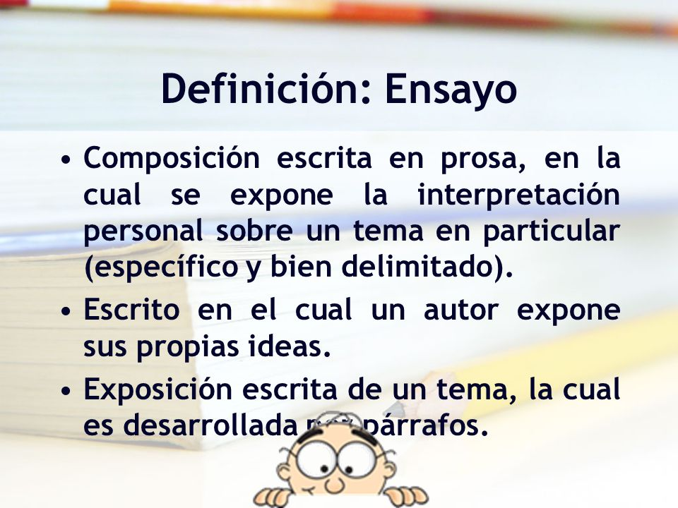 Definición: Ensayo