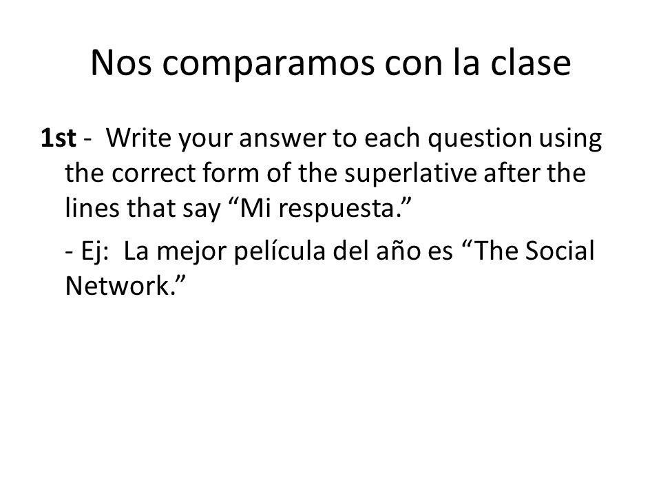 Nos comparamos con la clase