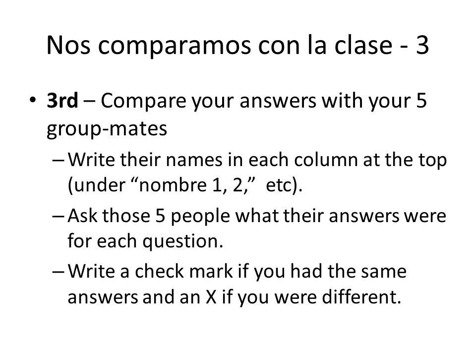 Nos comparamos con la clase - 3