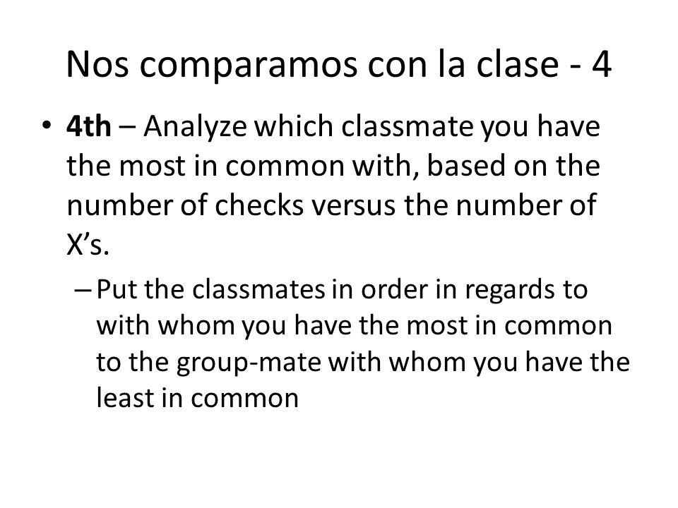 Nos comparamos con la clase - 4