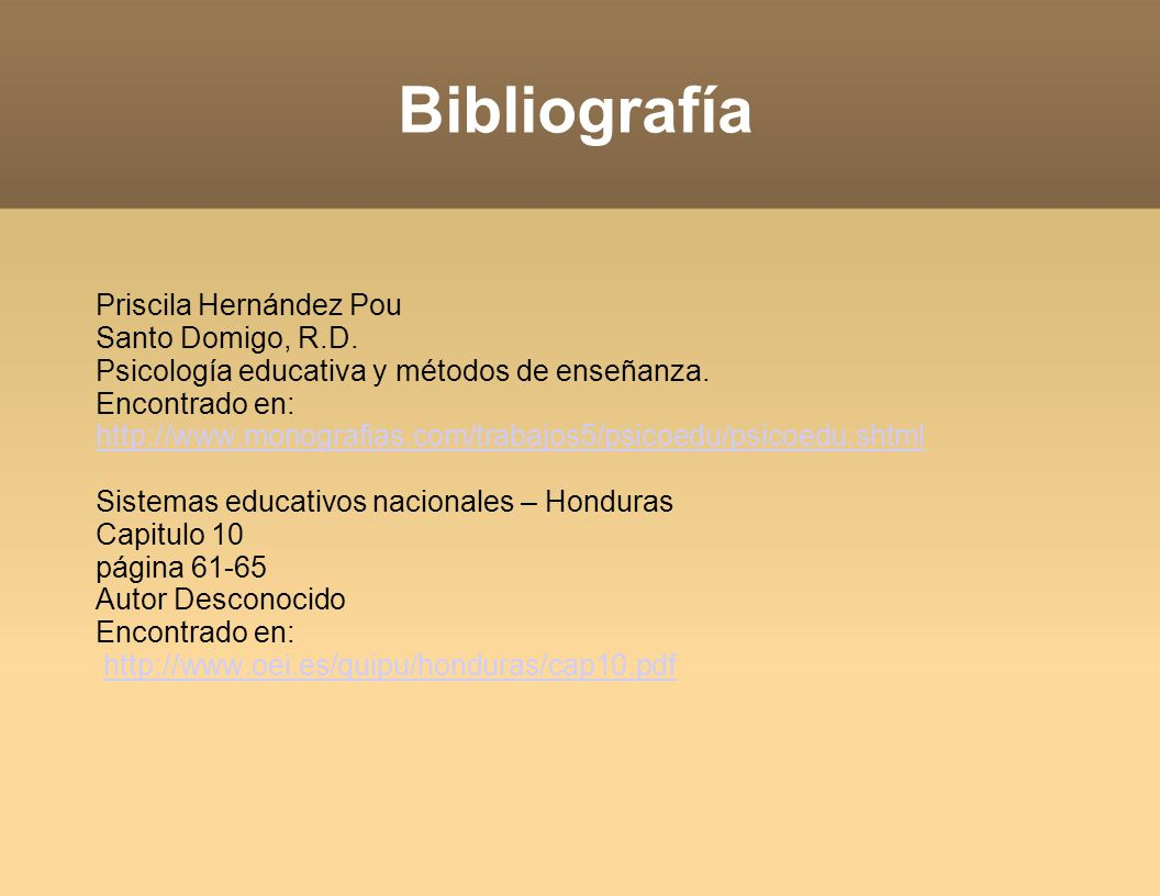 Bibliografía Priscila Hernández Pou Santo Domigo, R.D.