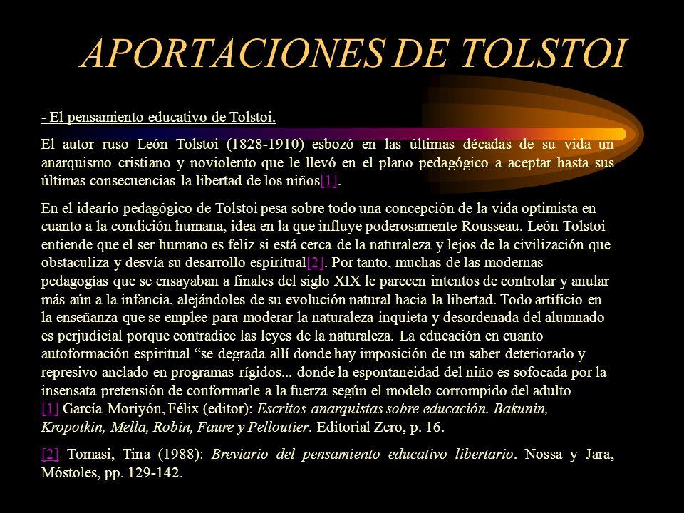 APORTACIONES DE TOLSTOI