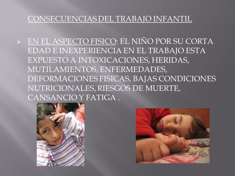 CONSECUENCIAS DEL TRABAJO INFANTIL