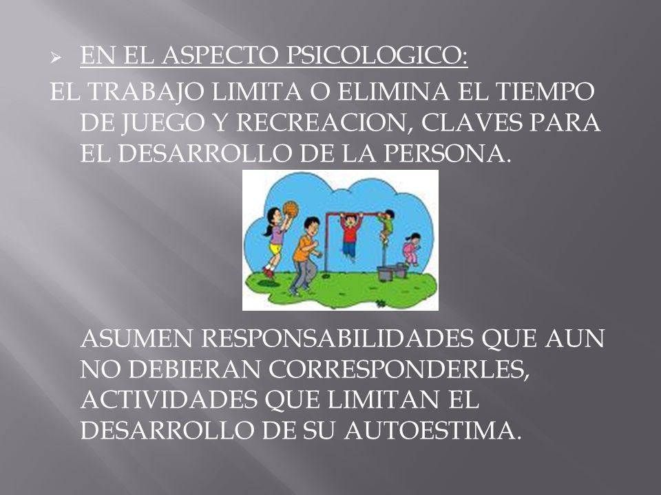 EN EL ASPECTO PSICOLOGICO: