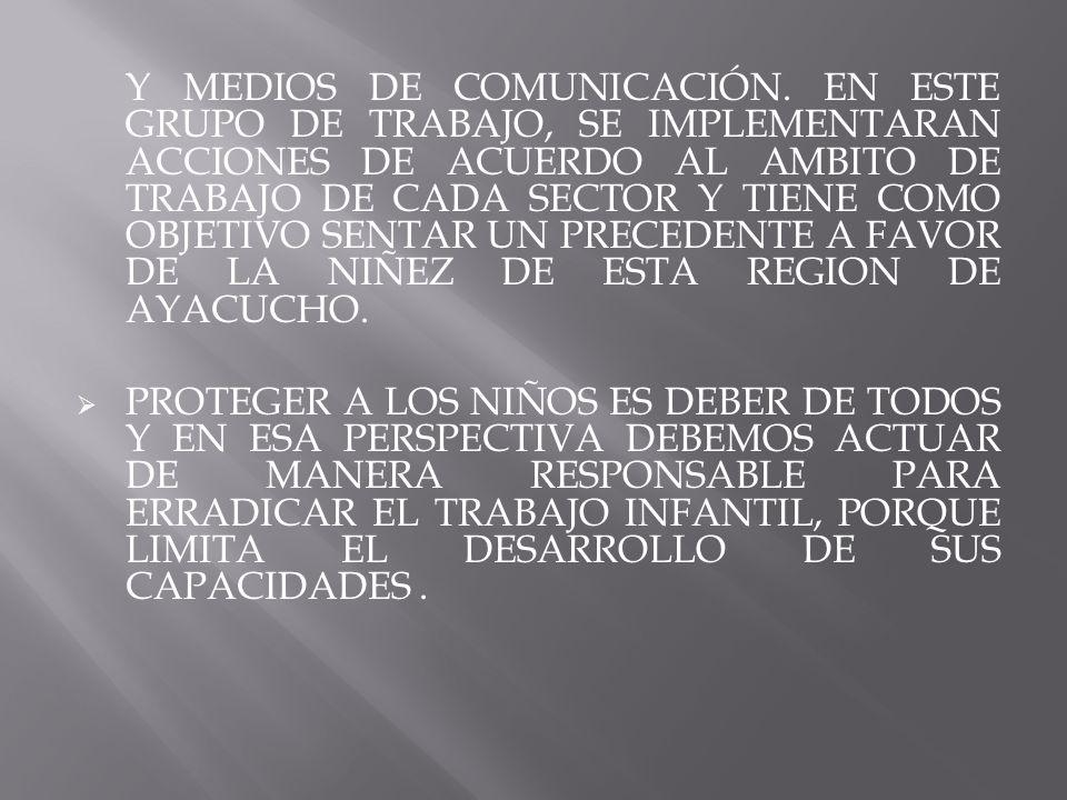 Y MEDIOS DE COMUNICACIÓN