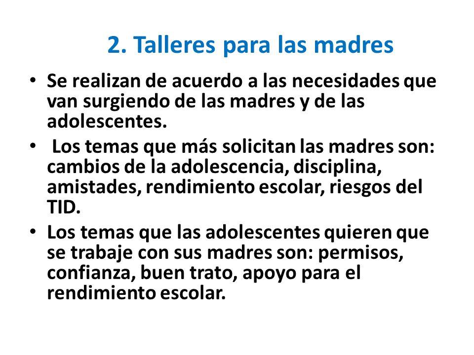 2. Talleres para las madres