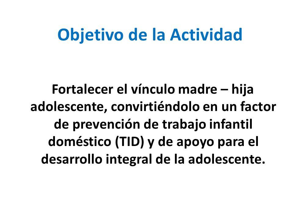 Objetivo de la Actividad